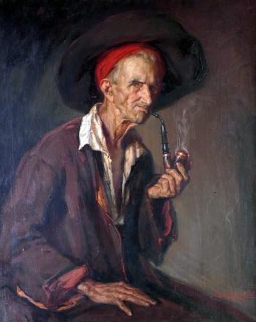El fumador,Ismael Blat Monzo, Maestros españoles del retrato, Pintor Valenciano, Pintores españoles, Pintores Valencianos