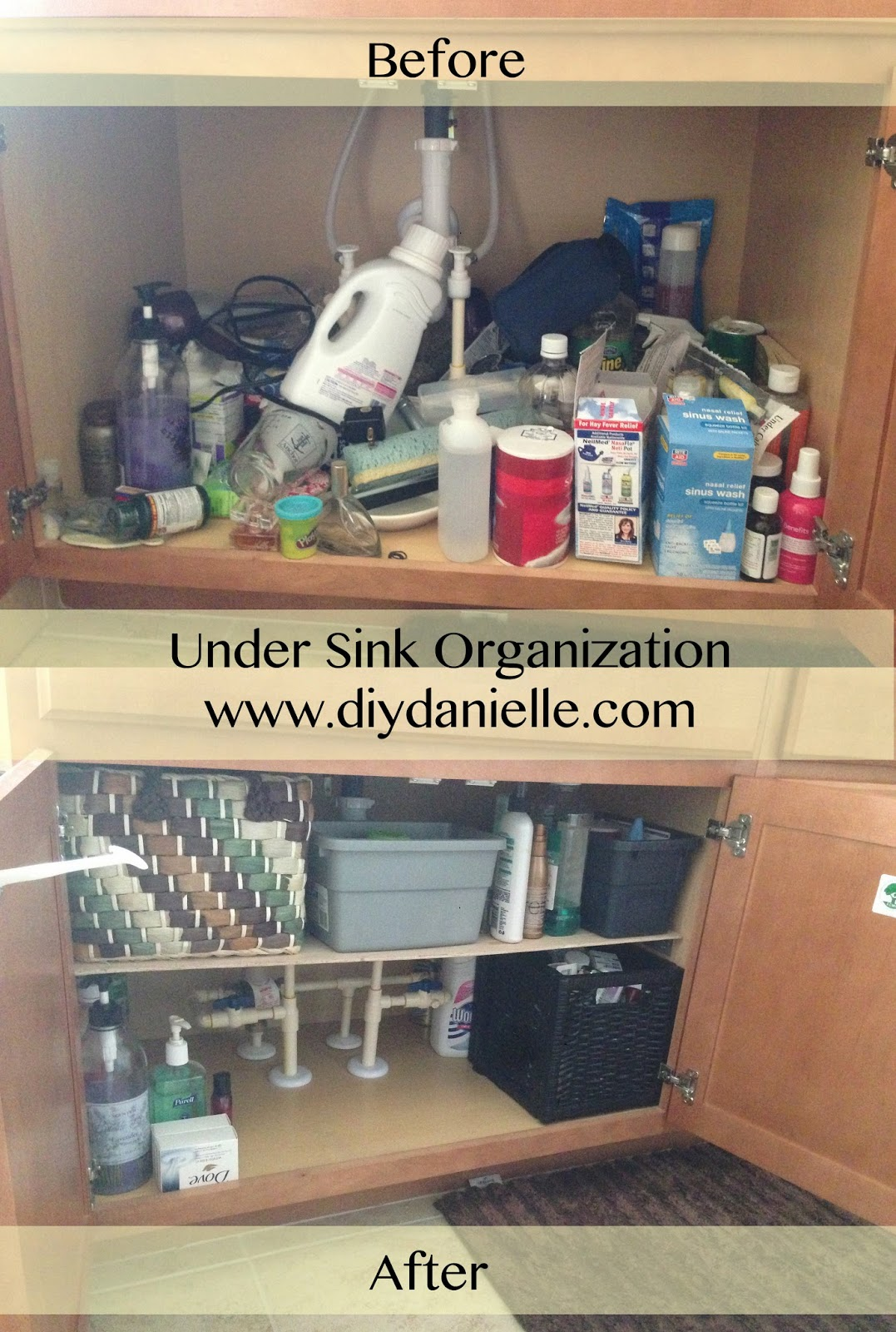 How to make your own under sink organizer