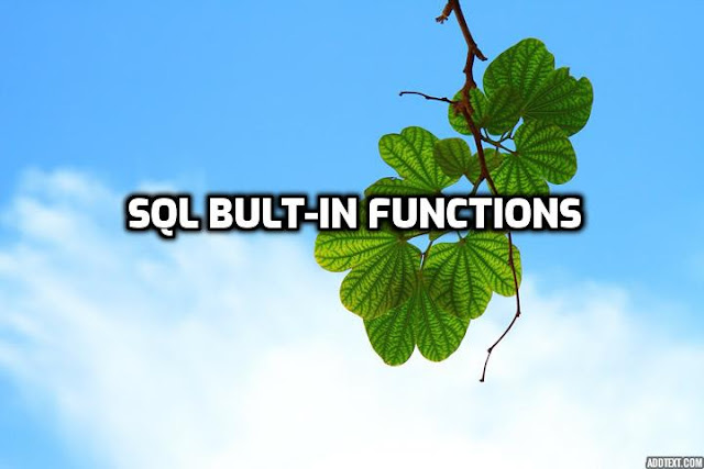 sql built-in functions with examples