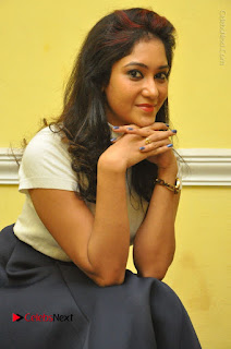 Telugu Actress Sindhu Affan Latest Pos in Black Skirt at Www.Meena Bazaar Movie Opening  0032.JPG