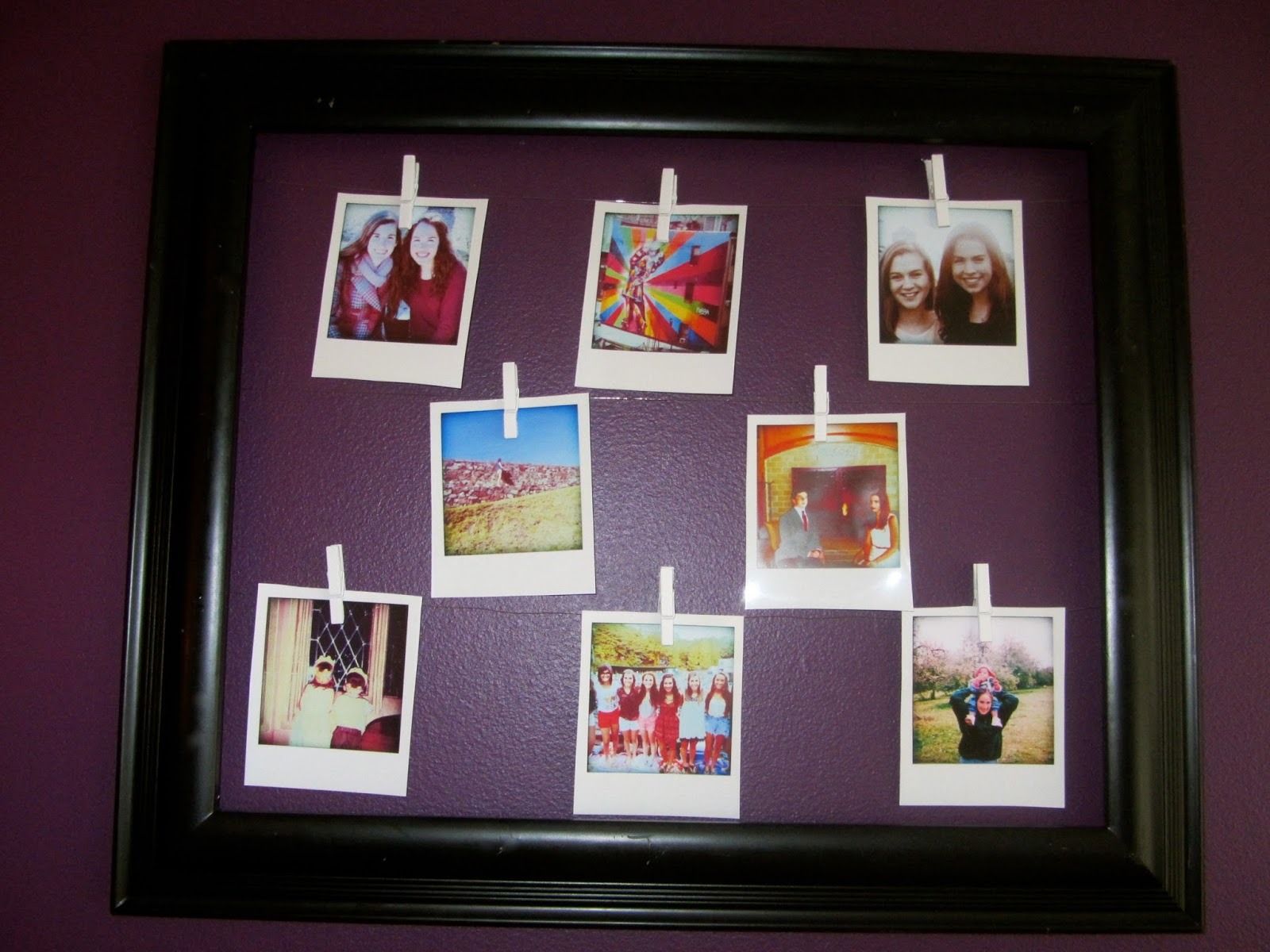 Redefining Reality Diy Clothespin Photo Frame