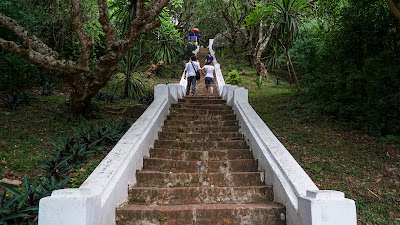 Staircase to the top of Mount Phousi