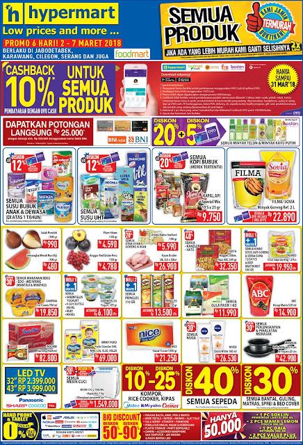 Katalog Promo HYPERMART JSM Akhir Pekan Periode 02 - 07 Maret 2018