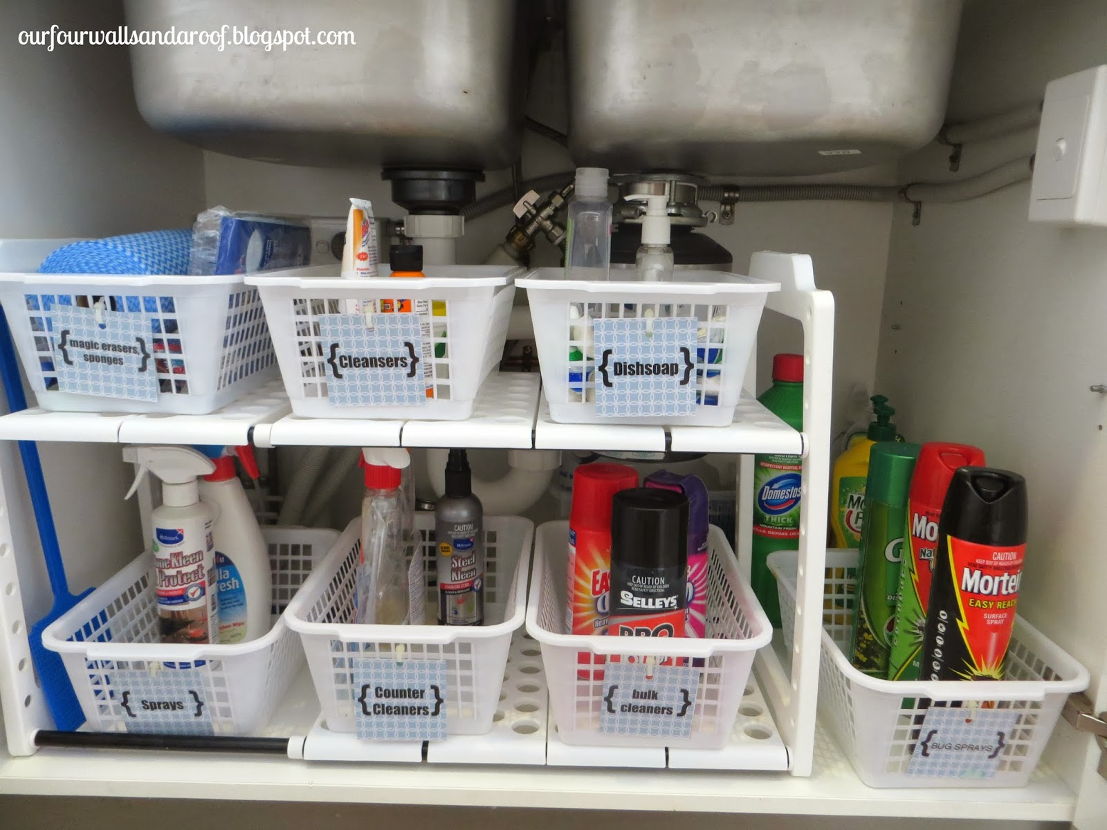 Our Four Walls And A Roof Kitchen Sink Organisation