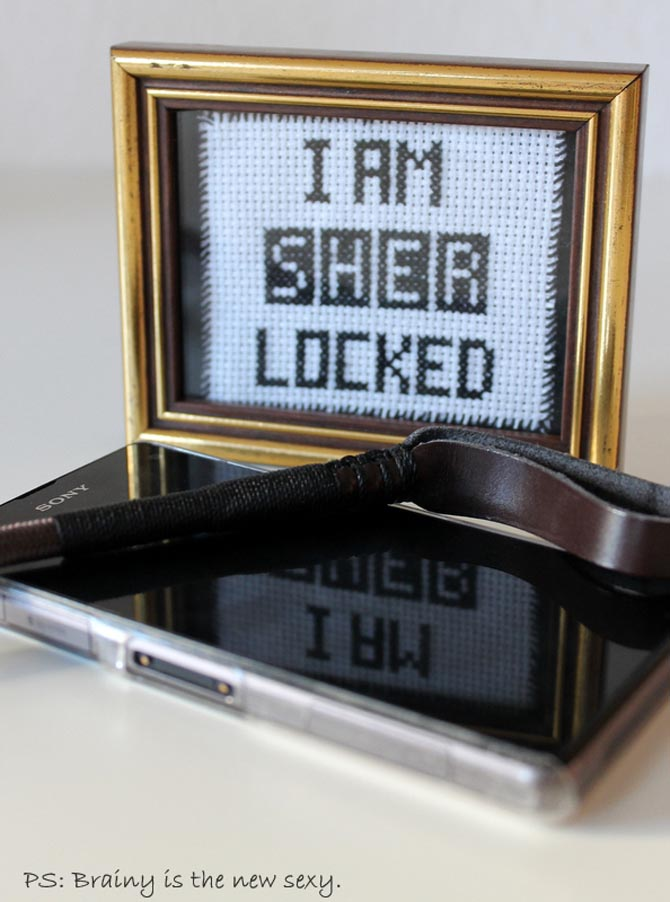 Cross Stitch Stickbild Sherlock I Am Sherlocked