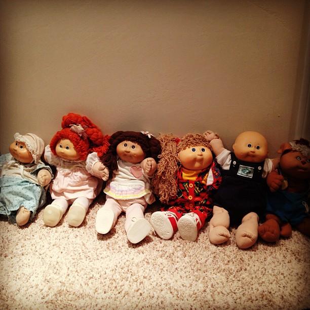 80s toys, cabbage patch kids, dolls
