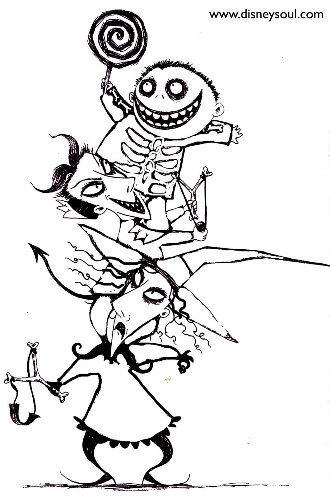 Disney Soul Dibujos Para Colorear De Pesadilla Antes De