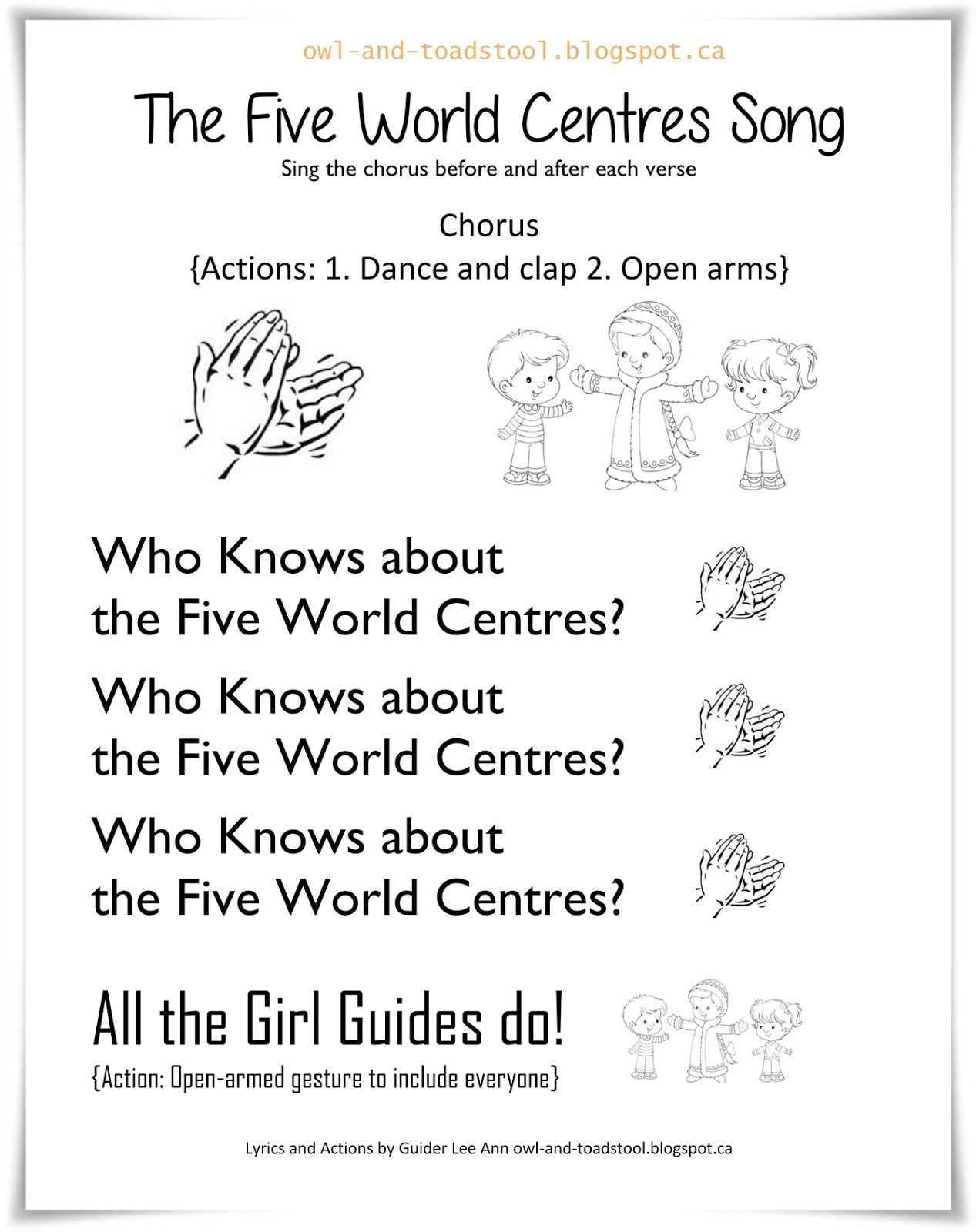 Owl Amp Toadstool The Five World Centres Song