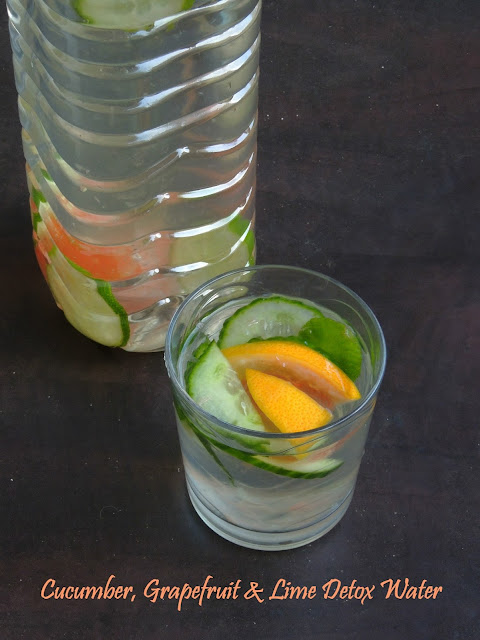 Cucumber, Grapefruit & Lime Detox Water,Detox Water