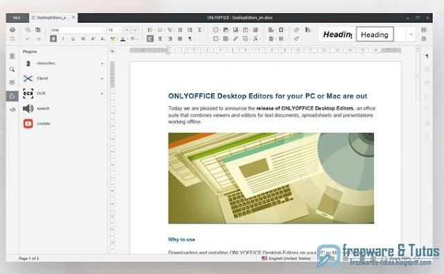 ONLYOFFICE Desktop Editors : une suite bureautique alternative