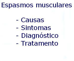 Espasmos musculares causas sintomas diagnóstico tratamento prevenção riscos complicações