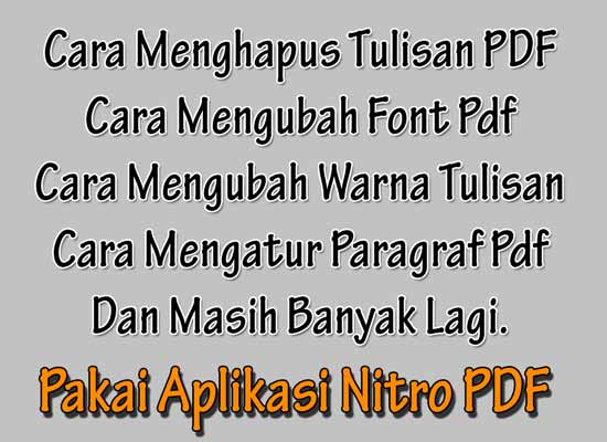 salam sahabat grafis media biar sehat selalu Cara Mengedit Tulisan File Pdf di Nitro Pdf