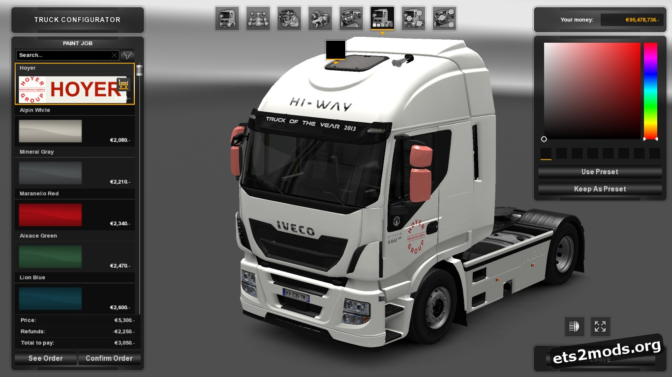 Hoyer Skin for Iveco Hi Way