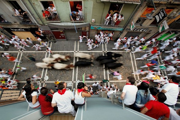 San Fermin Running Of The Bulls festiva