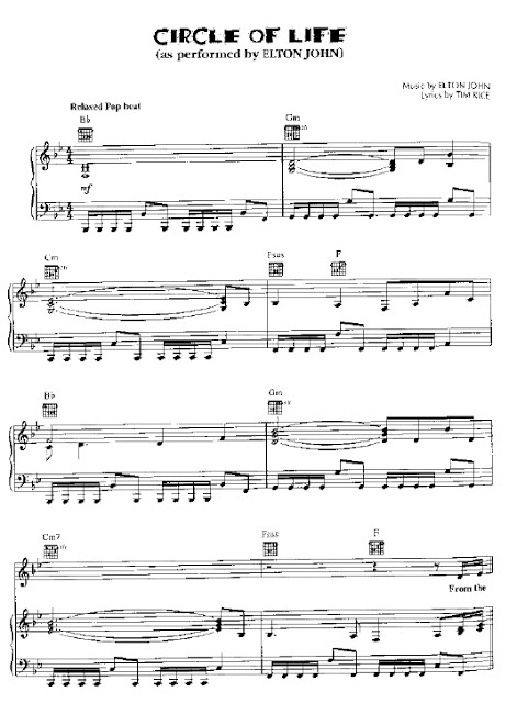 Partitura Piano Elton John