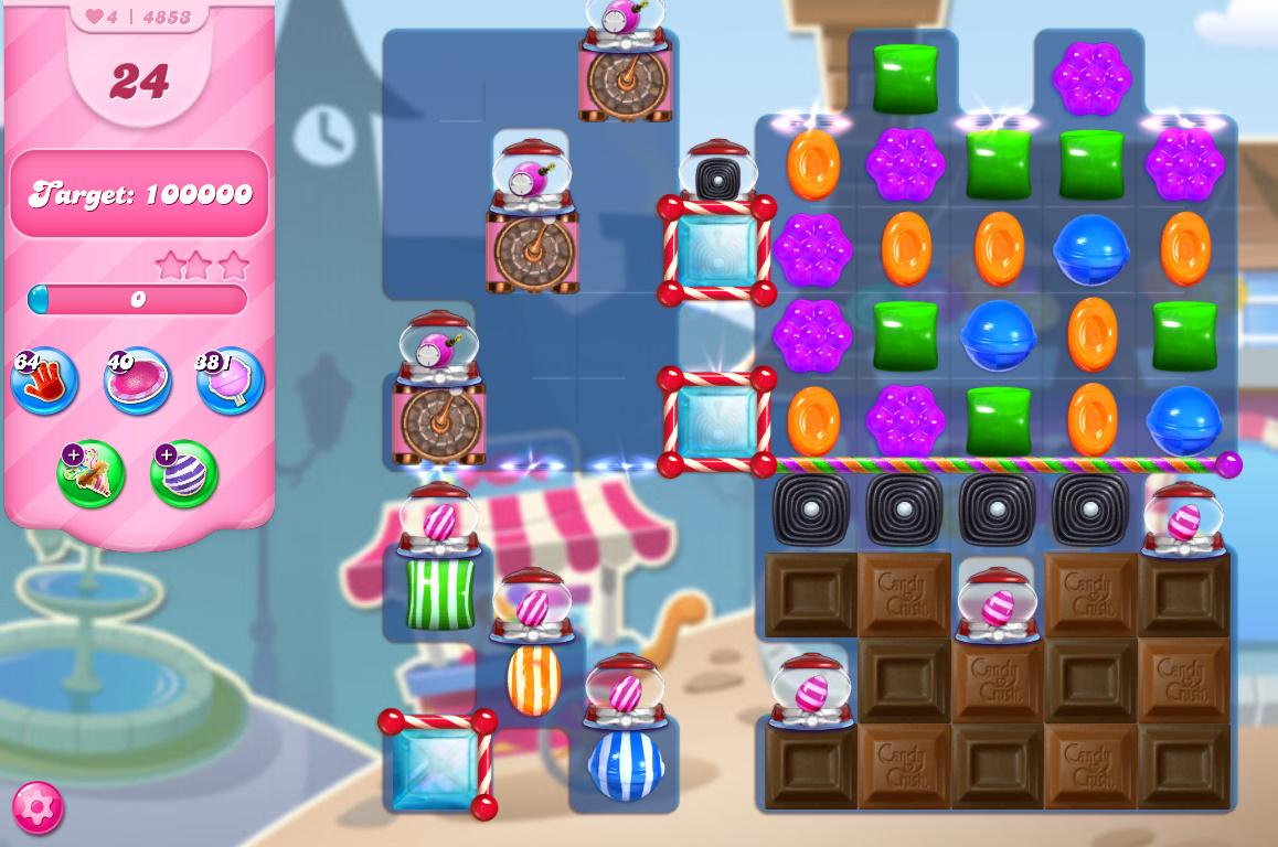 Candy Crush Saga level 4853