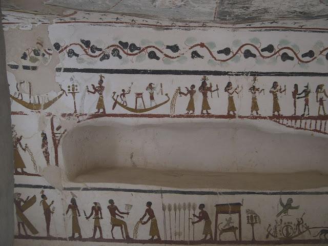 Paintings from the tomb of Sadosiris at Muzawaka (XIX)