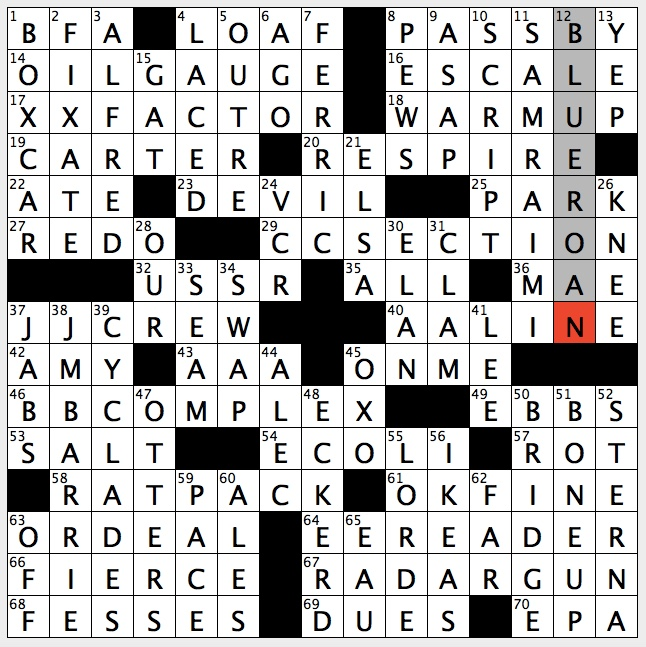 Rex Parker Does The Nyt Crossword Puzzle Horse With Evenly Mixed