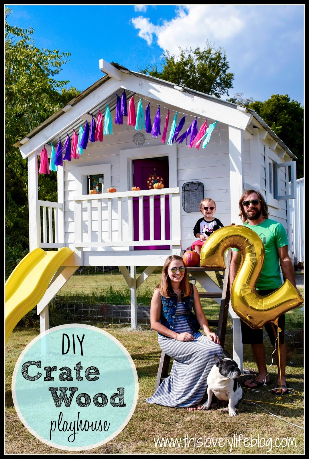 This Lovely Life Diy Crate Wood Playhouse Part 2 The