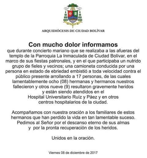 Chaburro atropelló y mató a 8 personas en Ciudad Bolívar