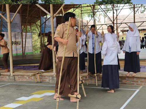 Kaulinan Barudak di ECO Bambu Cipaku