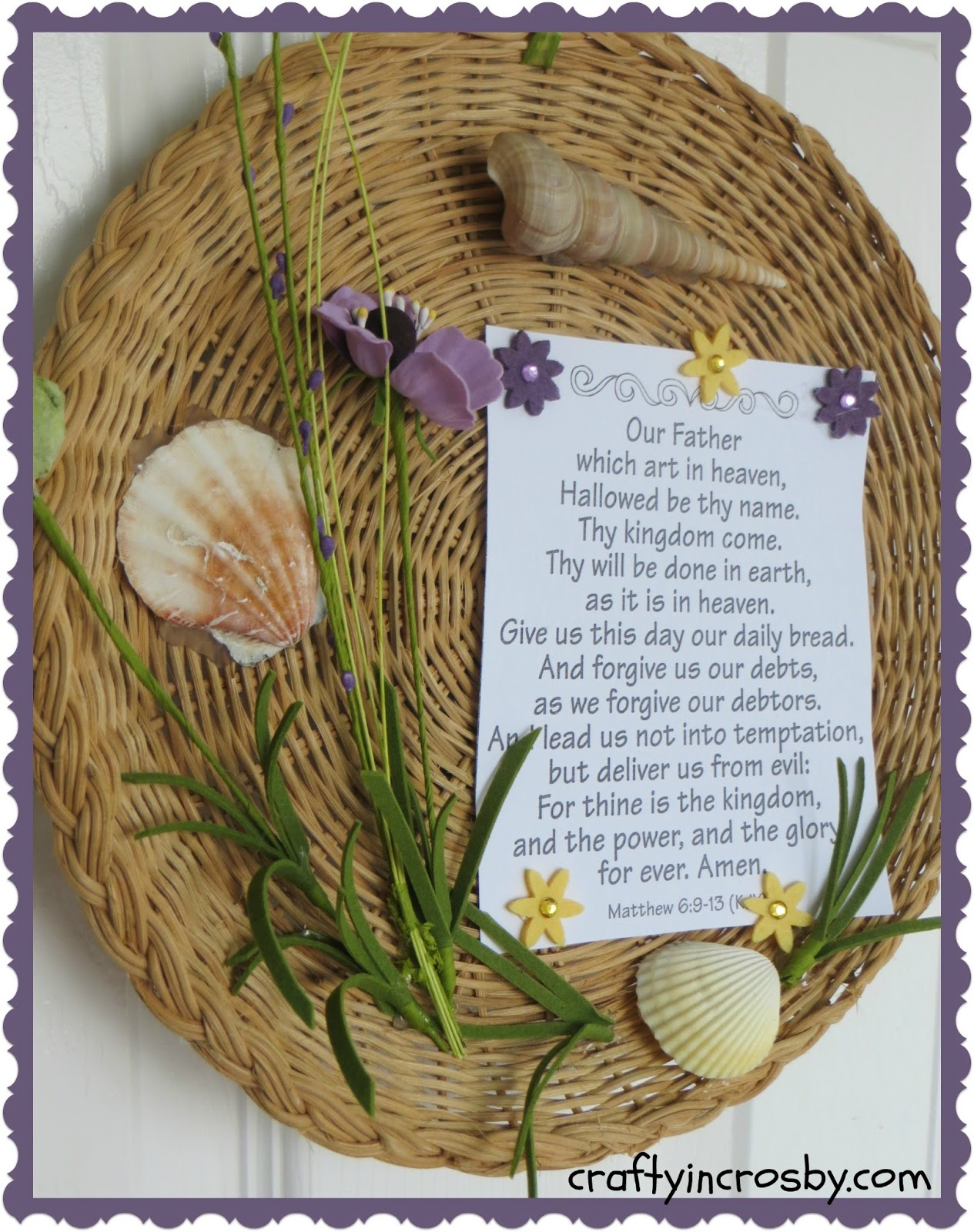 Crafty In Crosby The Lord S Prayer