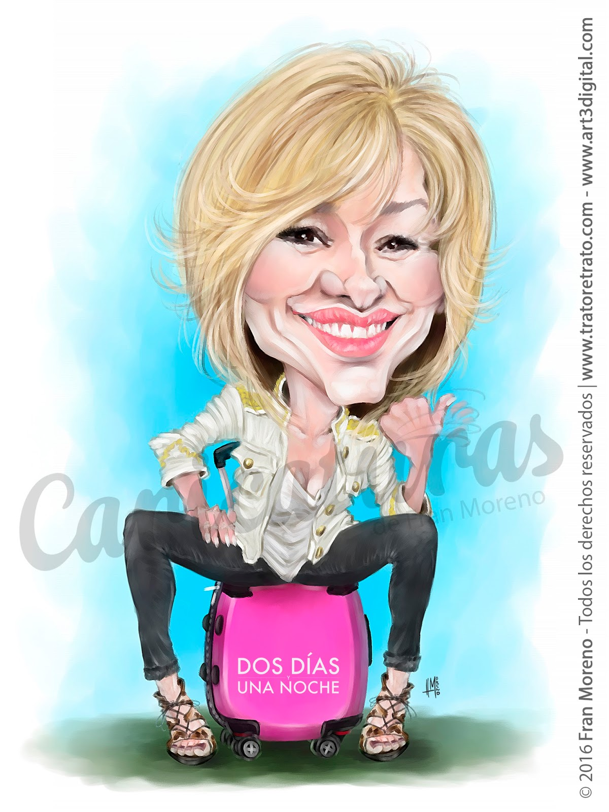 Caricatura de Susanna Griso por Fran Moreno