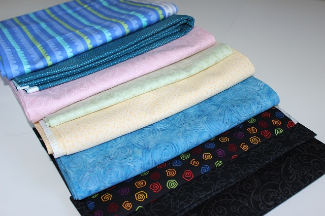 random assortment of fabrics