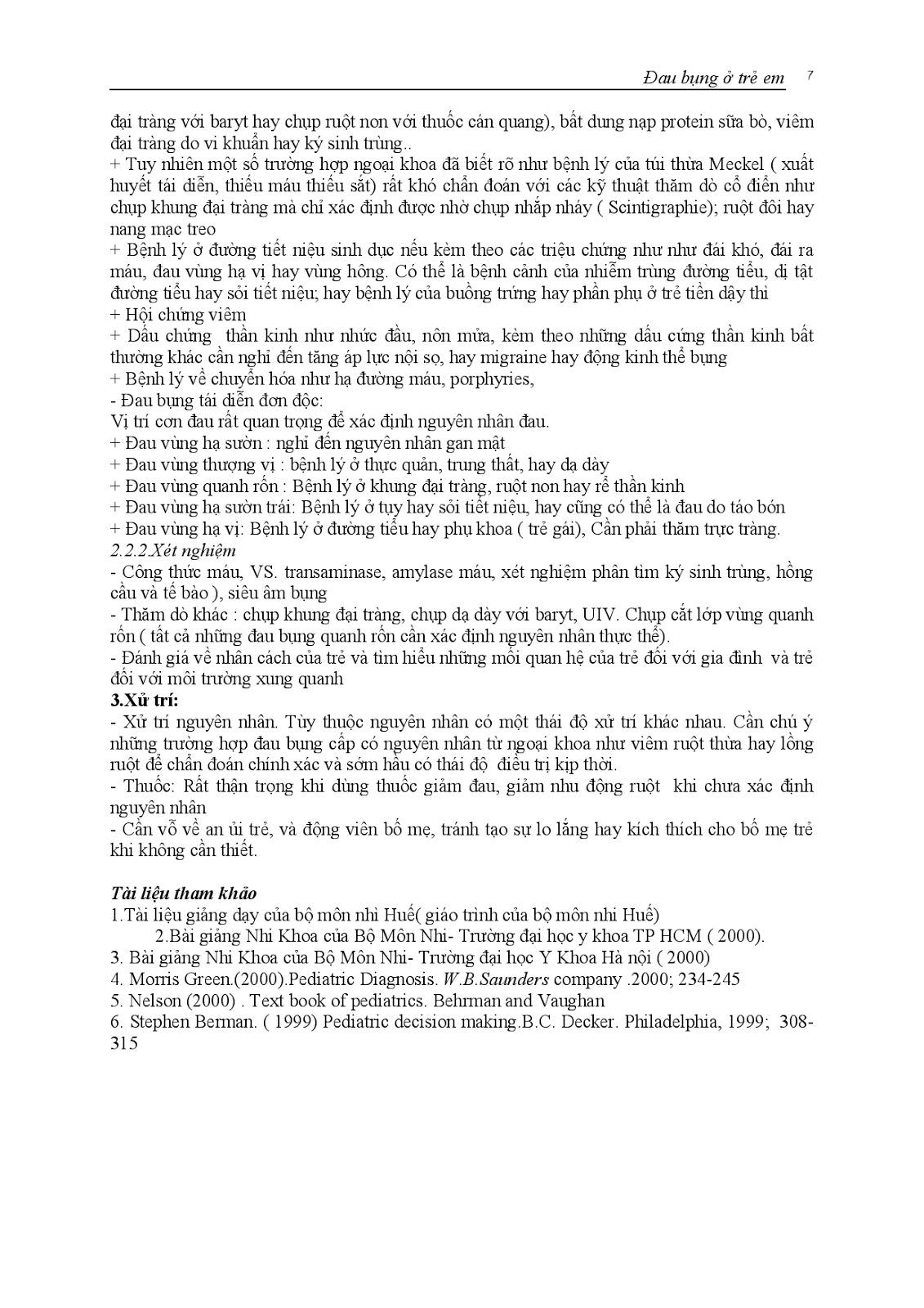Trang 7 sach Bài giảng Nhi khoa II (Nhi hô hấp - Nhi tiêu hóa - Nhi lây) - ĐH Y Huế