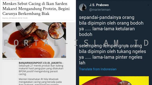 MAKJLEB! Sindir Menkes, Suryo Prabowo: Selempeng-Lempengnya Orang Bila Dipimpin oleh Tukang Ngeles Ya Lama-Lama Pinter Ngeles