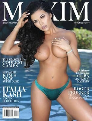 Maxim South Africa Edisi November 2017 - Model Majalah Pria Dewasa