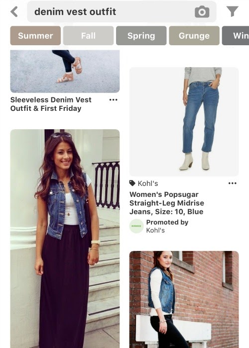 How to style clothes for moms with Pinterest - Outfits for moms - how to style a denim vest