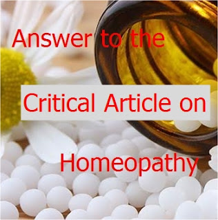 Answer to the Critical Article on Homeopathy