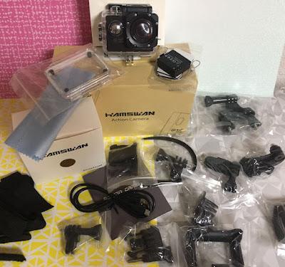 cámara deportiva, cámara, cámara sumergible, wifi, camara wifi, hamswan, shopping, amazon,