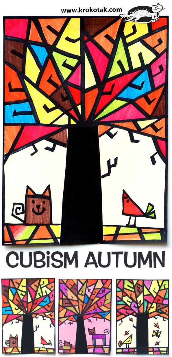 Art Sub Lessons Art Sub Plan Cubism Autumn Easy Fall