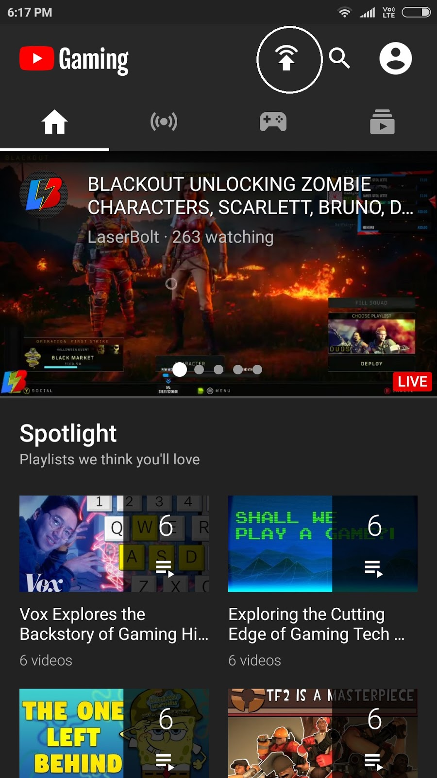 Live Stream of Games on YouTube from Android Mobile Phone