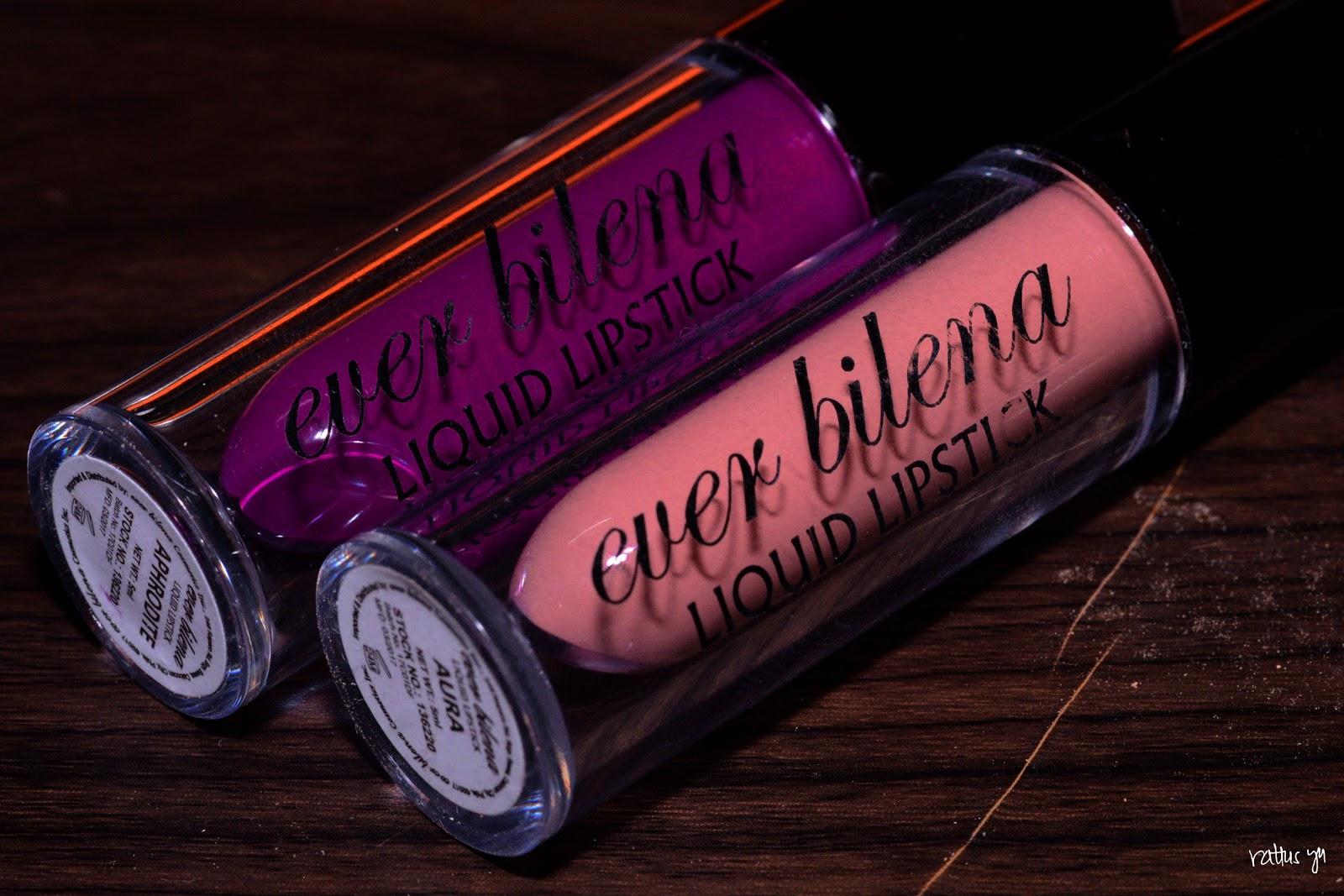 Ever Bilena Liquid Lipstick in Aura and Aphrodite