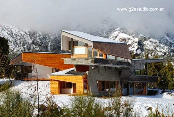 Casa vacacional vanguardista en Bariloche Argentina