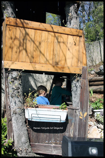 cabane dans les arbres enfants