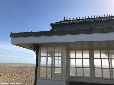 A windy walk along Goring Beach, West Sussex