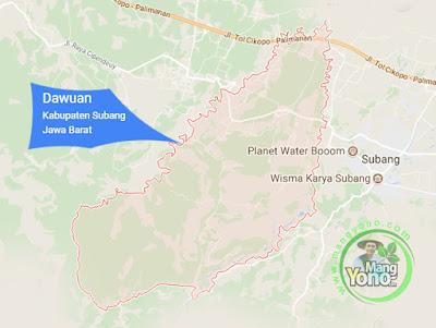 PETA : Kecamatan Dawuan, Kabupaten Subang, Jawa Barat