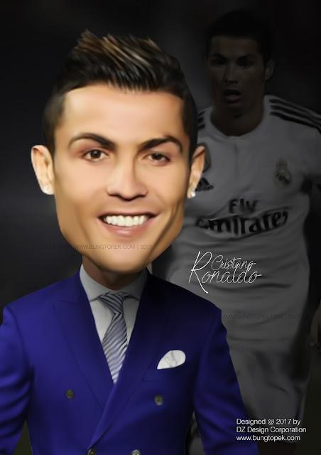 Karikatur Cristiano Ronaldo