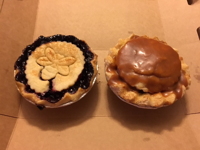 Levi's Pies Jumbleberry and salted caramel apple