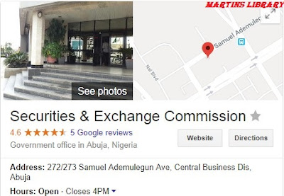 Securities and Exchange Commission Recruitment 2018/2019 | Application Guidelines