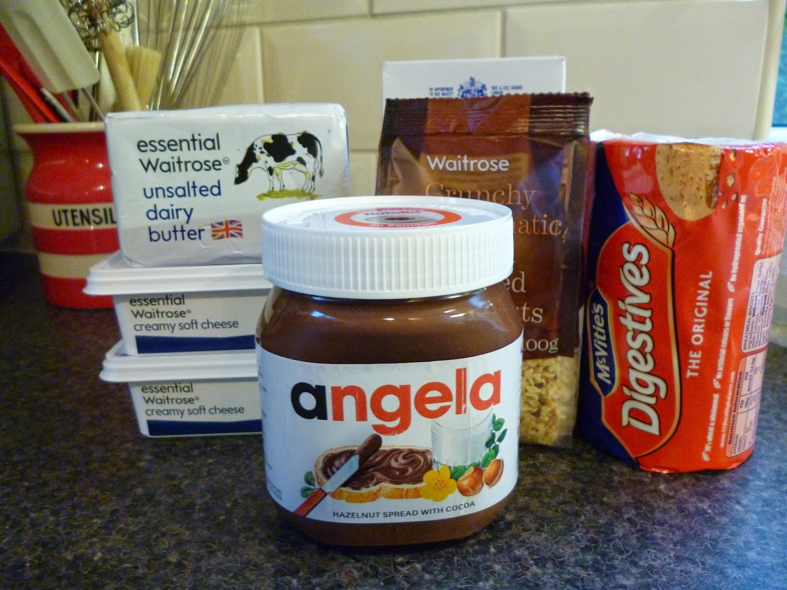 personalised jar of Nutella