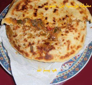 المطبقة القفصية,مطبقة أكلة شعبية,طريقة تحضير المطبقة التونسية,وصفة المطبقة التونسية  , خبزة مطبقة , المطبقة التونسية الأكلة الشعبية