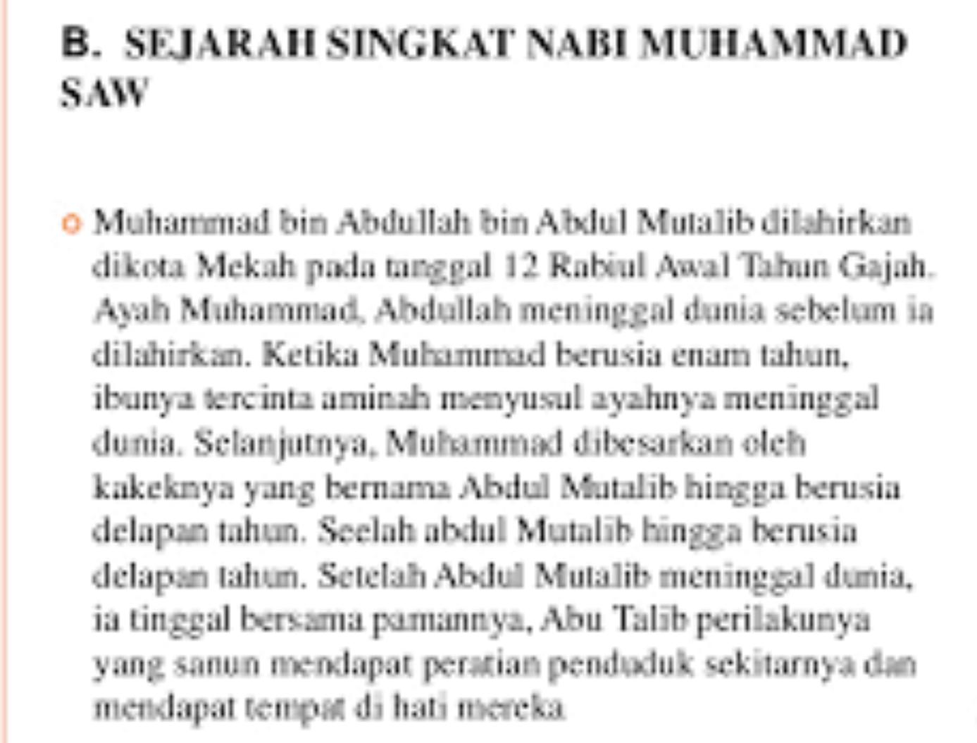 Sejarah Nabi Muhammad Sebelum dan Sesudah Kerasulan