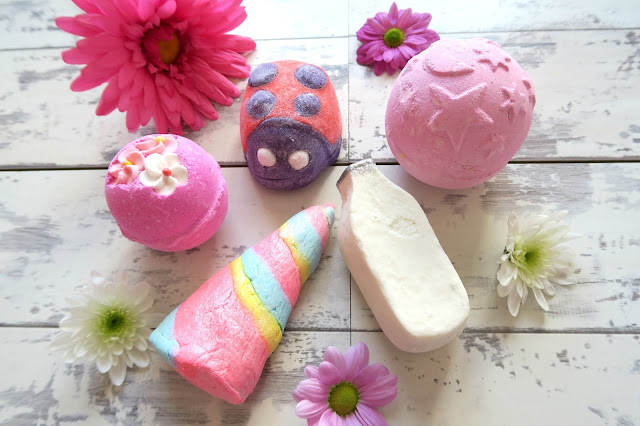 Lush Haul, Think Pink, Ladybird, Twilight, Unicorn Horn, Milky Bath
