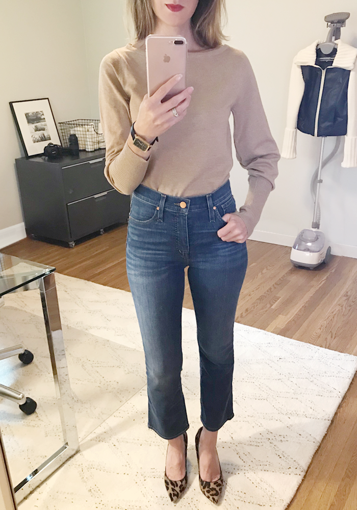 jeans leopard fall outfit
