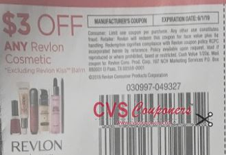 "$3/1 Revlon Cosmetics Coupon from ""Smart Source"" insert 5/5."